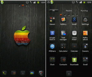 iPhone Black Go Launcher Theme