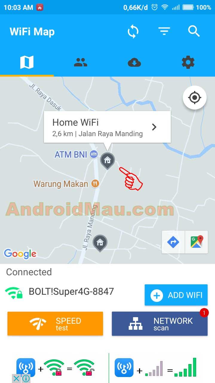 kenapa wifi map tidak bisa mendeteksi wifi terdekat