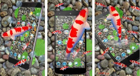 Tema KOI Beruntung Fish 3D