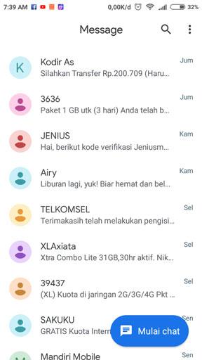 Cara Membuka SMS Android di Laptop